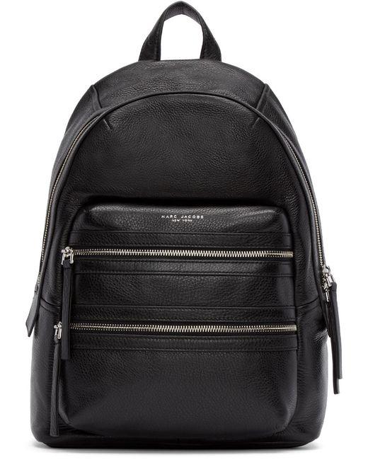 Marc Jacobs | Чёрный Black Leather Large Biker Backpack
