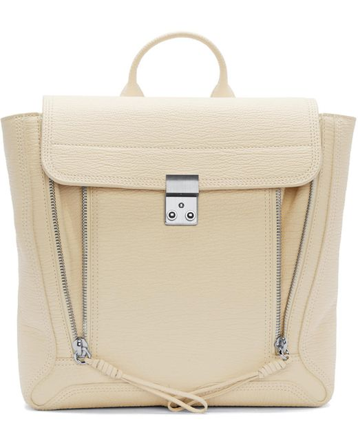3.1 Phillip Lim | Milk Cream Leather Pashli Backpack