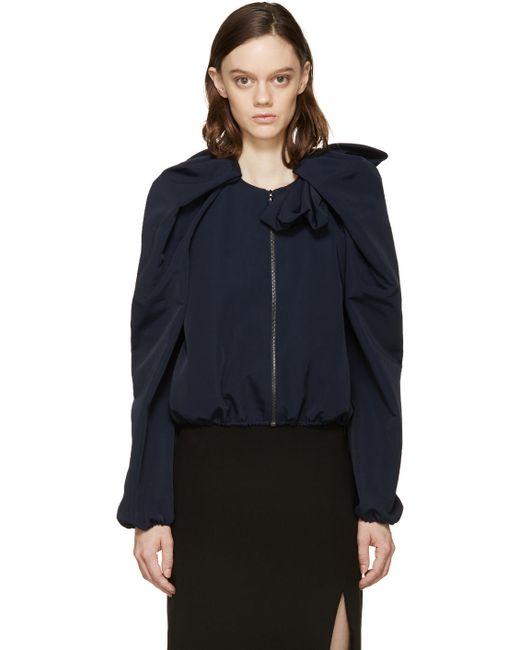 Lanvin | Синий Navy Voluminous Sleeve Jacket
