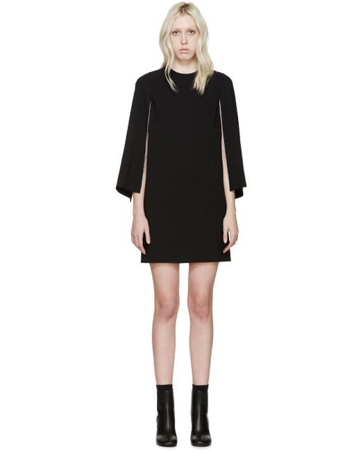 Givenchy | Женское Чёрный Black Open Sleeve Dress