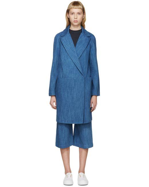 ATEA OCEANIE | 76 Washed Indigo Blue Denim Coat