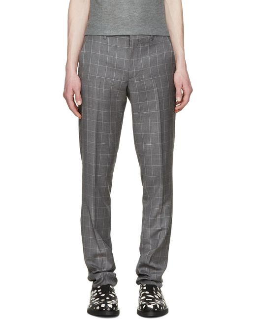 Paul Smith | Серый Grey Windowpane Check Trousers