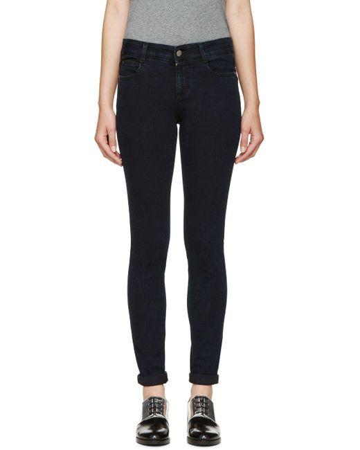 Stella Mccartney | Чёрный Indigo The Skinny Long Jeans