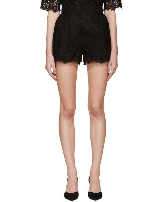Dolce & Gabbana   N0000 Nero Dolce And Gabbana Black Lace Shorts