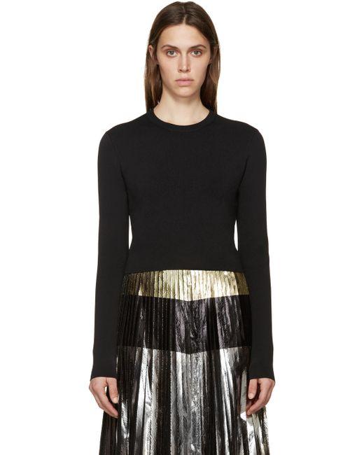 Proenza Schouler | Чёрный Black Cropped Knit Sweater