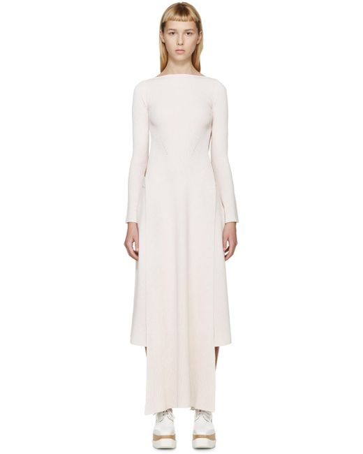 Stella Mccartney | 8490 Ivory & #47; Mist Pink Long Side Slit Sweater