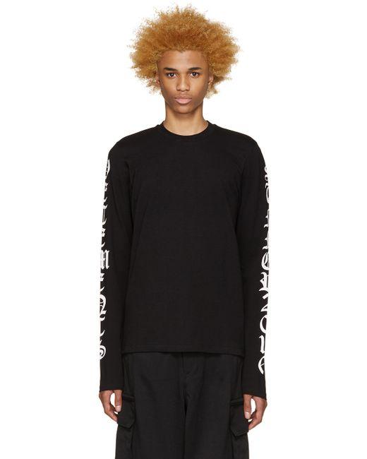 VETEMENTS | Чёрный Logo Sleeve T-Shirt