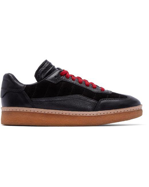 Alexander Wang | Чёрный Black Leather And Suede Eden Sneakers