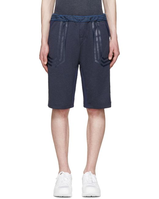 ADIDAS ORIGINALS BY WHITE MOUNTAINEERING | Night Navy Navy Colorblocked Lounge Shorts