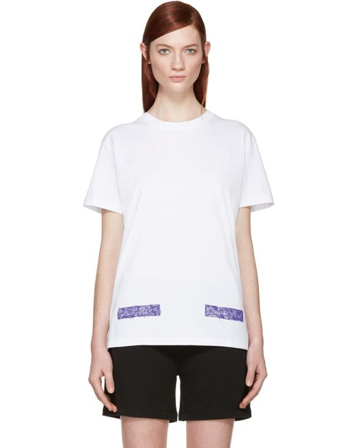 OFF-WHITE | Белый White College T-Shirt