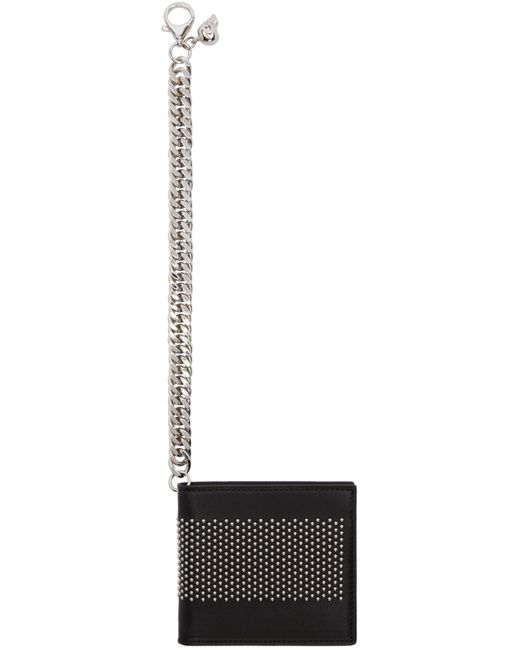 Alexander McQueen | Чёрный Black Studded Chain Wallet