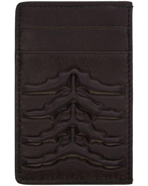 Alexander McQueen | Чёрный Black Ribcage Card Holder