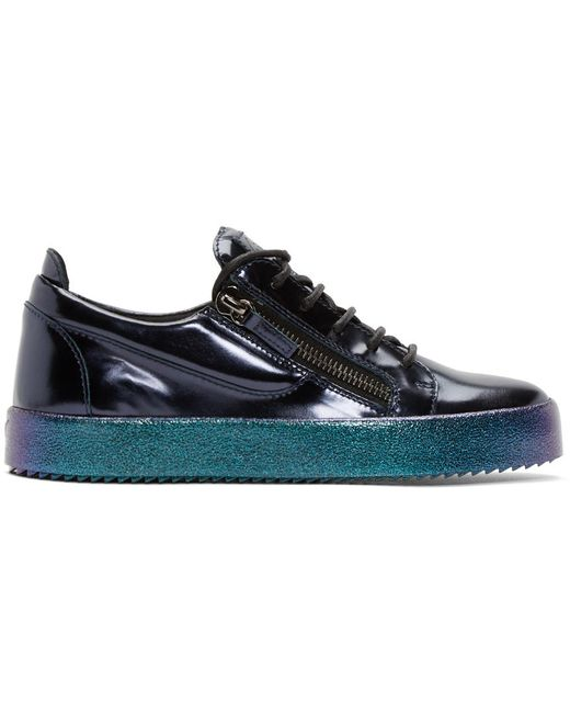 Giuseppe Zanotti Design | Синий Giuseppe Zanotti Patent Leather London Sneakers