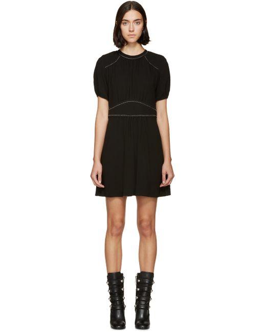 Isabel Marant | Чёрный Black Embroidered Crepe Wana Dress