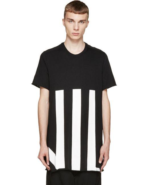 NIL0S   Мужское Чёрный And White Graphic T-Shirt