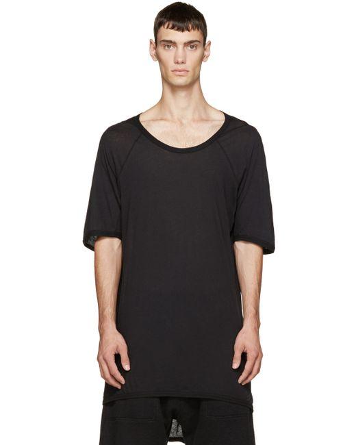 11 BY BORIS BIDJAN SABERI | Мужское Чёрный Black Droptail Hem T-Shirt