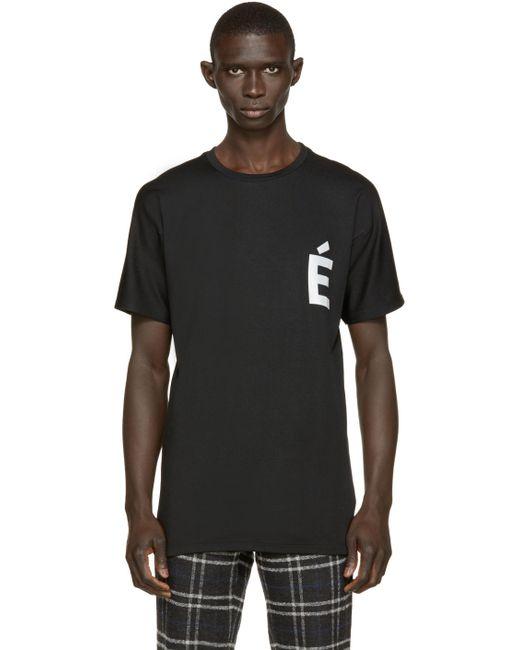 Etudes Studio | Мужское Чёрный Powder Slim Net T-Shirt