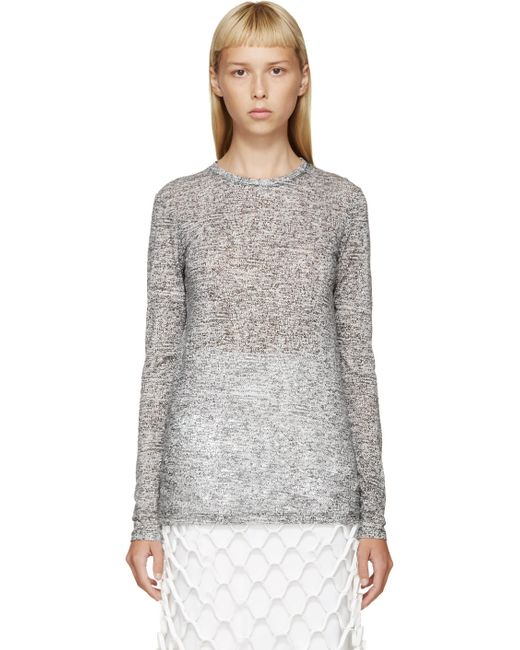 Proenza Schouler   Белый Black And White Printed T-Shirt