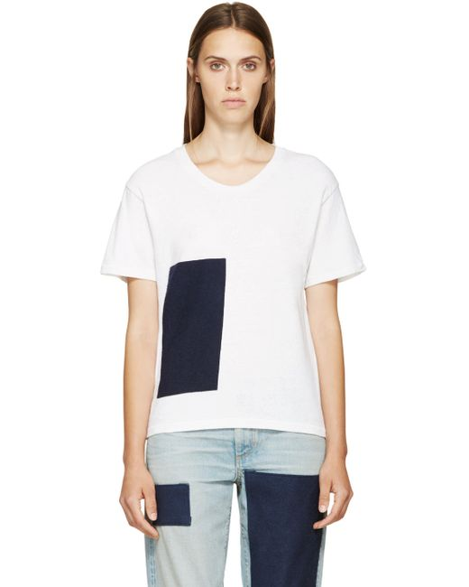 SIMON MILLER | Белый White Cotton Canton T-Shirt