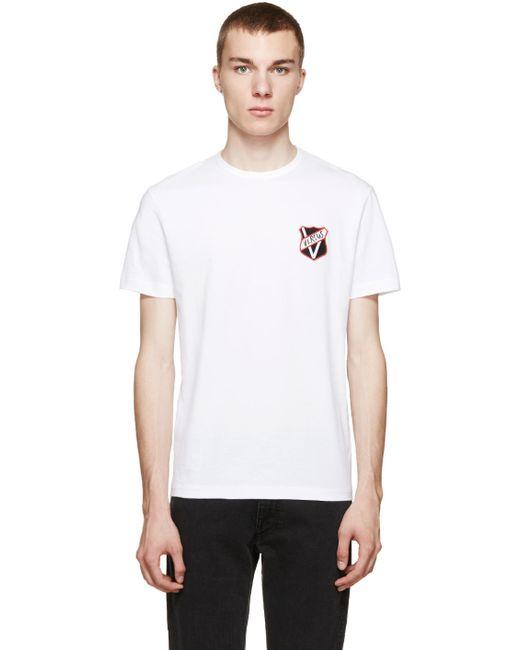 Versus | Мужское Белый White Logo Patch T-Shirt