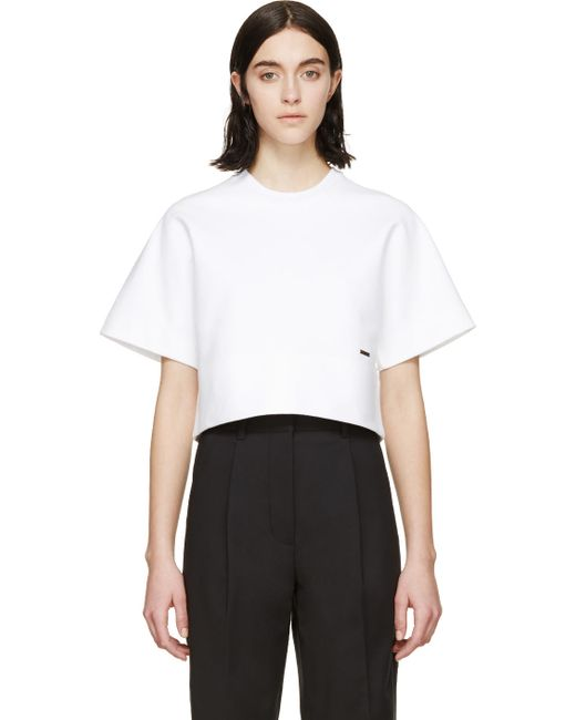 Dsquared2 | Белый White Cropped Short Sleeve T-Shirt