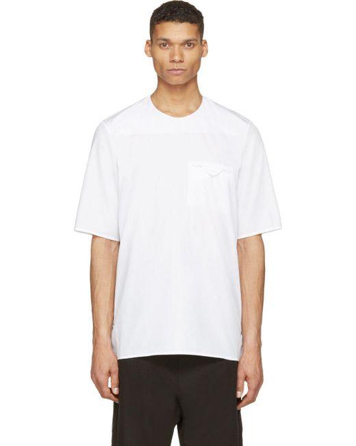 SIKI IM | Мужское Белый White Poplin Minimal T-Shirt