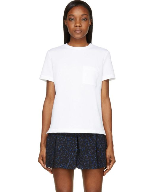 Proenza Schouler | Белый White Boxy Pocket Short Sleeve T-Shirt