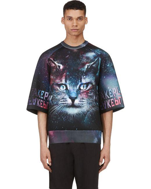 JUUN.J | Мужское Чёрный Ssense Exclusive Purple And Teal Cosmic Cat