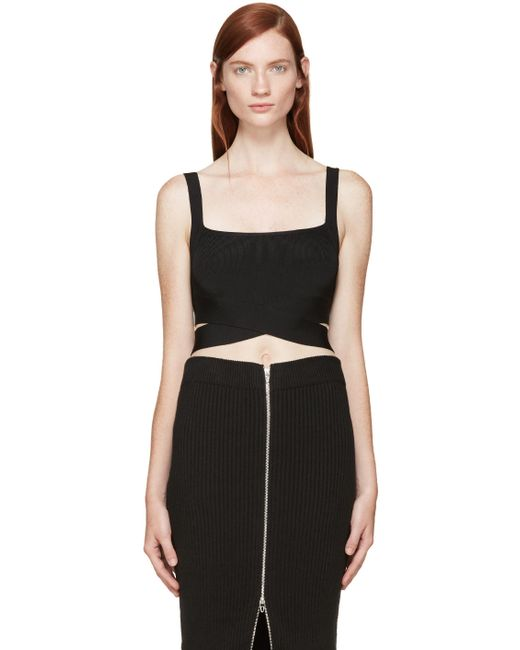 T By Alexander Wang | Чёрный Black Criss-Cross Tank Top