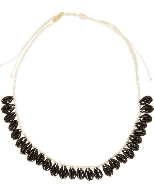 Isabel Marant | Чёрный Black Seashell Necklace