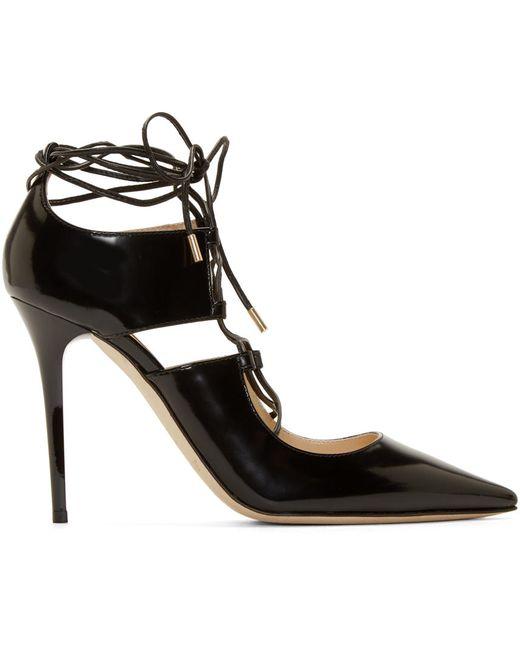 Jimmy Choo   Чёрный Leather Hoops Heels