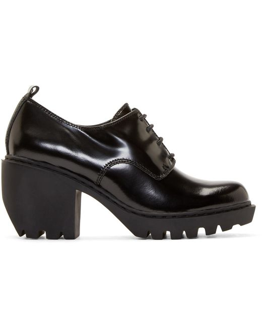 Opening Ceremony | Чёрный Black Leather Grunge Oxfords