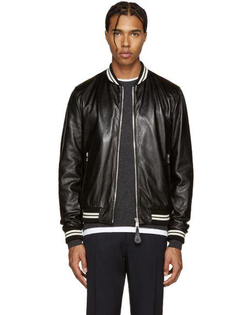 Dolce & Gabbana | Чёрный Dolce And Gabbana Black Lambskin Bomber Jacket