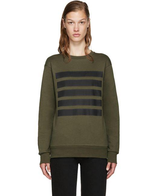 PALM ANGELS   Зелёный Green 5 Stripes Sweatshirt