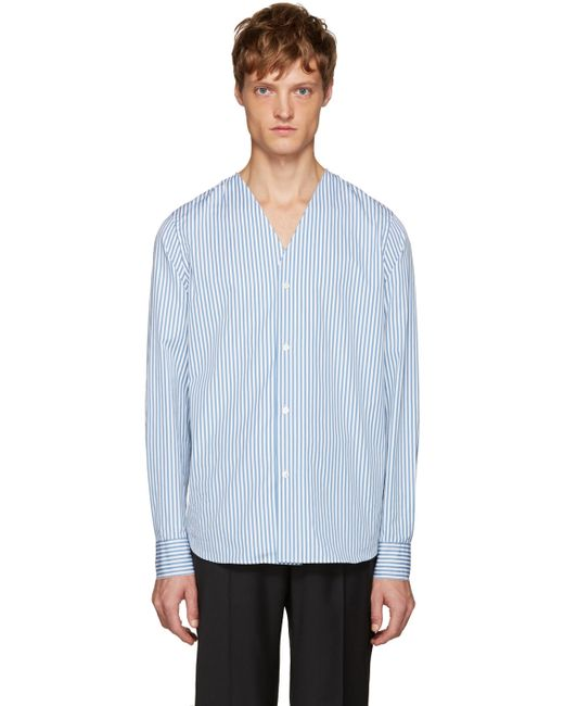 Marni | Белый Blue And White Striped Shirt