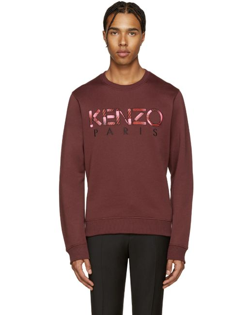 Kenzo | 23 Bordeaux Red Logo Pullover
