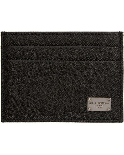 Dolce & Gabbana   Чёрный Dolce And Gabbana Black Leather Card Holder