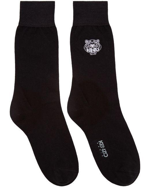 Kenzo | Чёрный Black Tiger Socks