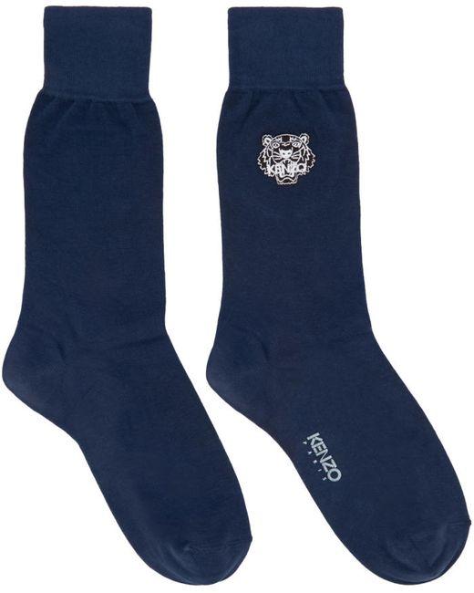 Kenzo   78 Ink Navy Tiger Socks