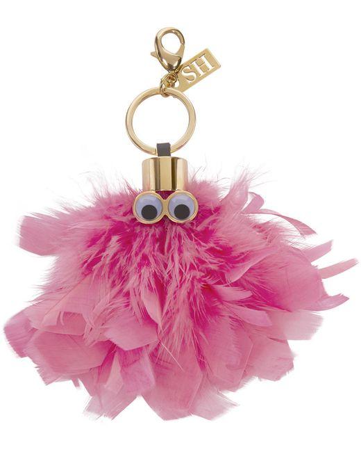 Sophie Hulme | Розовый Feather Dolly Keyring