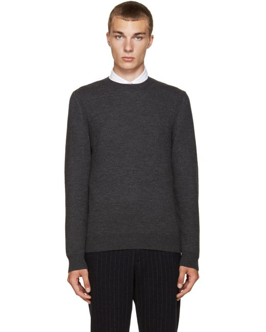 A.P.C. | Plc Anthracite Chine Grey Shore Sweater