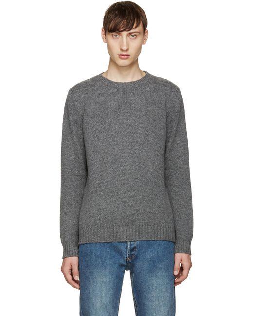 A.P.C.   Gris Chine Pla Grey Shortbread Sweater