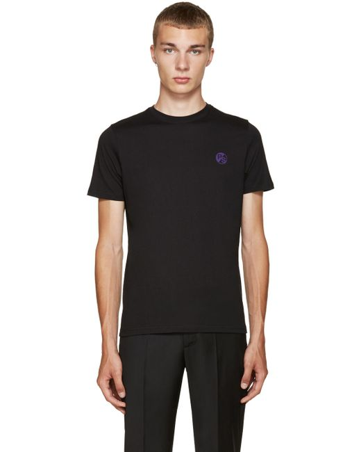 PS PAUL SMITH | Мужское Чёрный Ps By Paul Smith Black Logo T-Shirt
