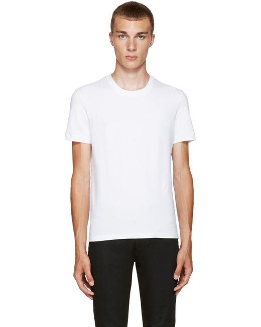 Dolce & Gabbana | Мужское Белый Dolce And Gabbana White Pure T-Shirt