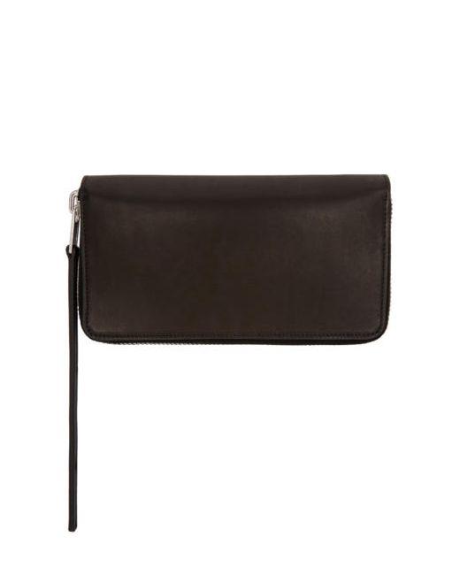 Rick Owens | Чёрный Black Medium Zippered Wallet