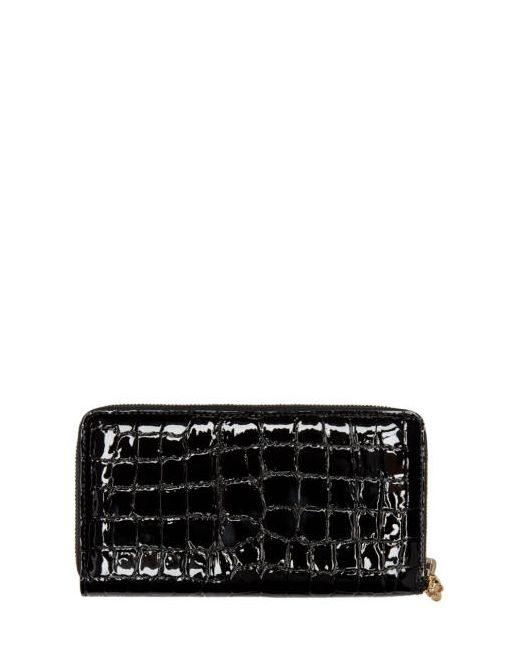 Alexander McQueen | Чёрный Black Croc-Embossed Wallet