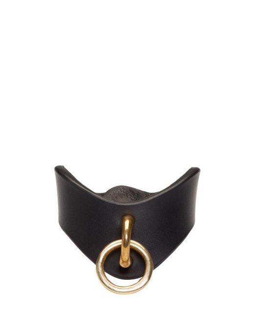 Fleet Ilya | Чёрный Black Leather O-Ring Cuff