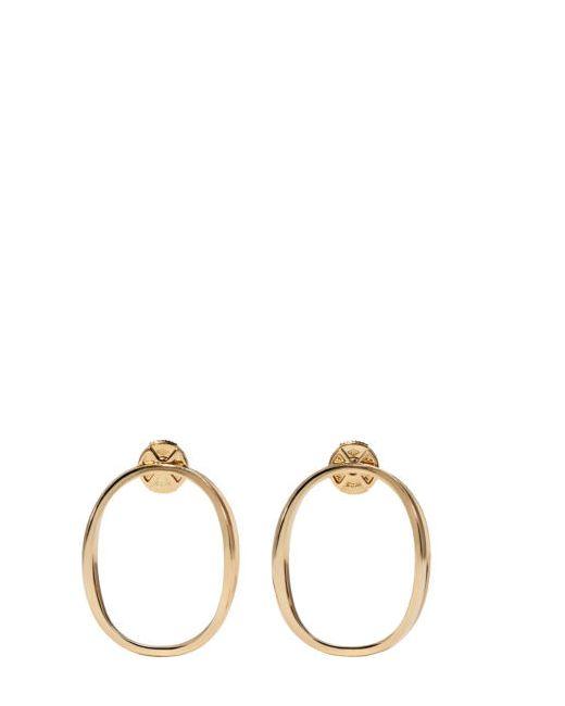 Delfina Delettrez | Золотой Gold Little Ear-Clipse Earrings