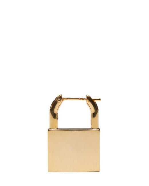 LAUREN KLASSEN | Золотой Gold Padlock Single Earring