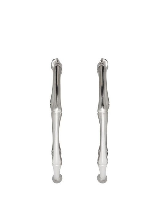 Gucci | Серебристый Silver Bamboo Hoop Earrings
